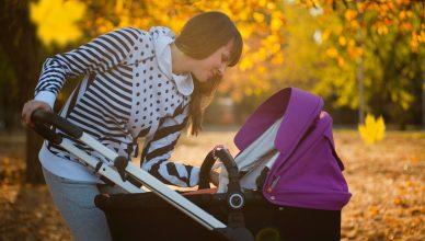 Bebek Arabasındaki Bebek ve Annesi